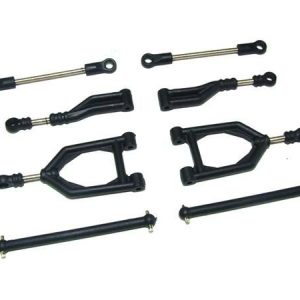 Yel12003 Front+Rear upper suspension arms Yellow RC