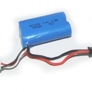 Yellow RC Battery Pack 7,4V 850mAH 1/12 Racer