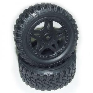YEL16032 Truck tires complete (Stadium Racer)