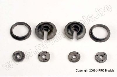 Spring retainers, upper & lower (2) /piston head set