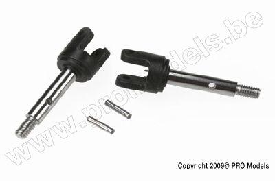 Stub axles, rear (2)