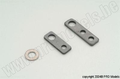 FG 6037_01 steel fixing plates  2pcs
