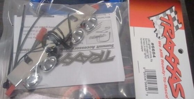 Traxxas 5684 LED Lightbar, chrome fits Summit roll cage