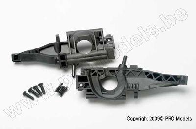 Traxxas 5329 Bulkhead, rear (L&R halves)/ diff retainer