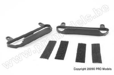 5823 Traxxas Nerf Bars, chassis (black) (w.o. tape)