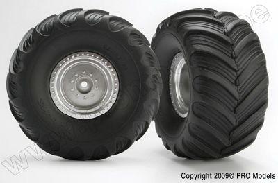 3663 Traxxas Tires & wheels, assembled (Monster Jam replica)