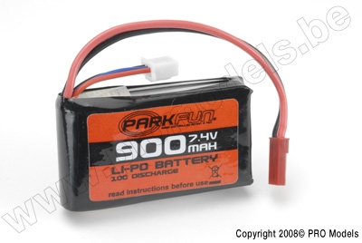 LIPO Battery Pack 7,4V 900mAh ParkFun