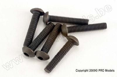 Traxxas 2579 Screws, 3x15mm button-head machine (hex drive)