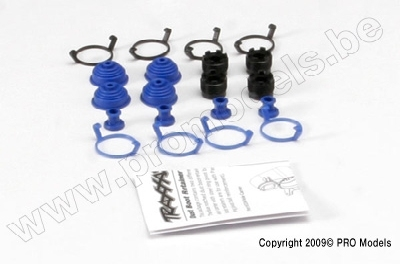 Traxxas 5378X Pivot ball caps (4)/ dust boots, rubber (4)/ d