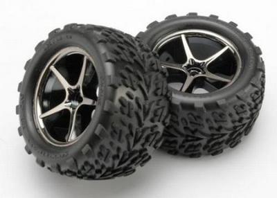 Traxxas 7174A Tires and wheels assembled, glued Gemini black