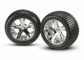 Traxxas 3770A Tires & wheels, assembled, glued (2.8