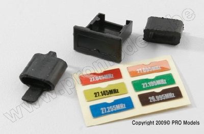 Traxxas 2030 Crystal holders, transmitter & receiver/ decals