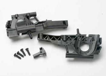 5330 Bulkhead, front (L&R halves)/ diff retainer/ 4x14mm BCS