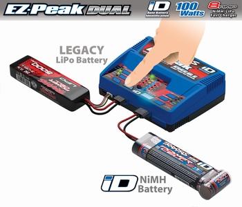 2972GX Traxxas EZ-Peak plus 100W Duo Lipo/NiMH iD charger