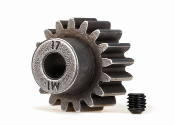 traxxas 6490X 17-tooth pinion gear. Fits 5mm shaft, 1.0 metr