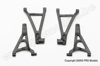 Suspension arm set, front (includes upper right & left and..