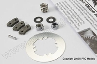 Rebuild kit, slipper clutch (steel disc/friction pads(3)/...