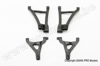7031 Traxxas Suspension arm set, front (includes upper right