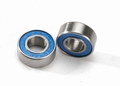 5180 Ball bearings, blue rubber sealed (6x13x5mm) (2)