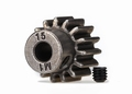 Traxxas 6487X Gear, 15-T pinion (1.0 metric pitch) (fits 5mm