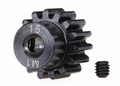 6487R Traxxas Gear, 15-T pinion (machined) (1.0 metric pitch