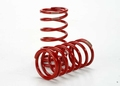 Traxxas Spring, shock (red) (GTR) (4.1 rate tan) (1 pair)