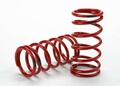 Traxxas Spring, shock (red) (GTR) (4.4 rate black) (1 pair)